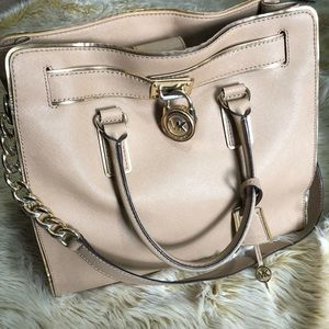 Michael Kors Tan Large Hamilton Satchel